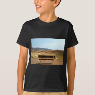 Bench View at Painted Hills Overlook Oregon T-Shirt