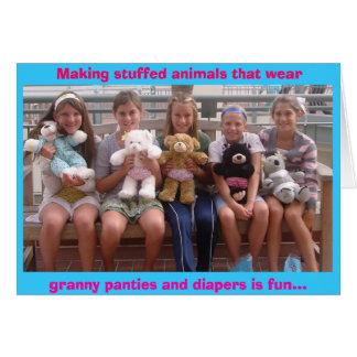 benchbears2, Making stuffed animals that wear, ... Card