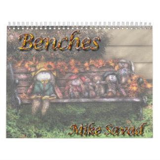 Benches Wall Calendar