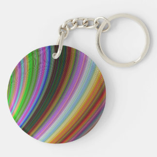Bend Double-Sided Round Acrylic Key Ring