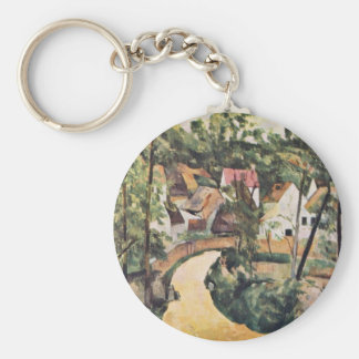 Bend In The Road By Paul Cézanne (Best Quality) Key Chains