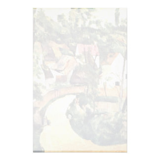 Bend In The Road By Paul Cézanne (Best Quality) Customized Stationery