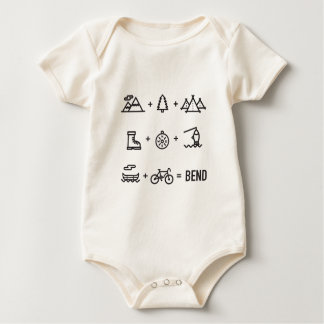Bend Oregon Activities Equation Logo Baby Bodysuit