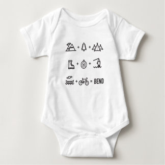 Bend Oregon Activities Equation Logo Baby Bodysuit