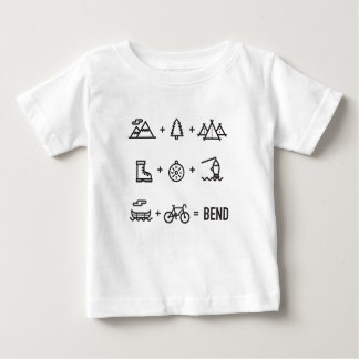 Bend Oregon Activities Equation Logo Baby T-Shirt