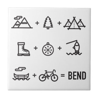 Bend Oregon Activities Equation Logo Ceramic Tile