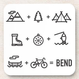 Bend Oregon Activities Equation Logo Coaster