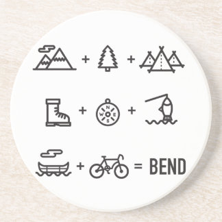 Bend Oregon Activities Equation Logo Coaster