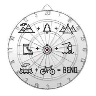 Bend Oregon Activities Equation Logo Dartboard