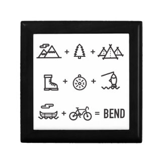 Bend Oregon Activities Equation Logo Gift Box