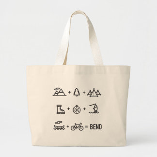 Bend Oregon Activities Equation Logo Large Tote Bag