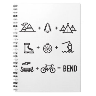 Bend Oregon Activities Equation Logo Spiral Notebook