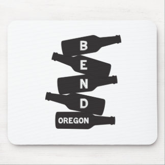 Bend Oregon Beer Bottle Stack Logo Mouse Pad