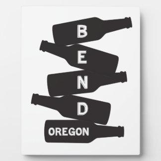 Bend Oregon Beer Bottle Stack Logo Plaque