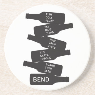 Bend Oregon Beer Bottle Stacked Outdoor Activities Coaster