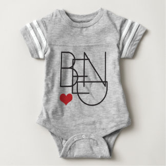Bend Oregon Heart Baby Bodysuit