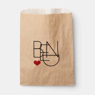 Bend Oregon Heart Logo gift bag