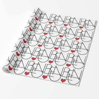 Bend Oregon Heart Wrapping Paper