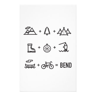 Bend Oregon Outdoor Activities Equation Stationery