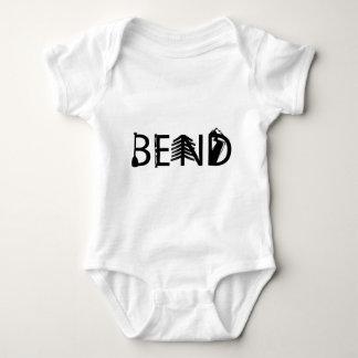 Bend Oregon Outdoor Activity Letters Logo Baby Bodysuit