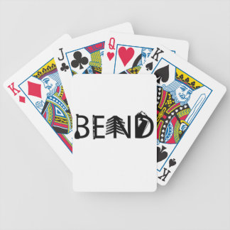 Bend Oregon Outdoor Activity Letters Logo Bicycle Playing Cards
