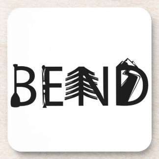 Bend Oregon Outdoor Activity Letters Logo Coaster