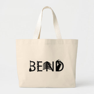 Bend Oregon Outdoor Activity Letters Logo Large Tote Bag