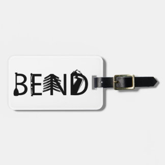 Bend Oregon Outdoor Activity Letters Logo Luggage Tag