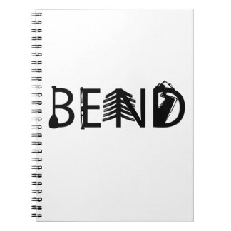Bend Oregon Outdoor Activity Letters Logo Notebooks