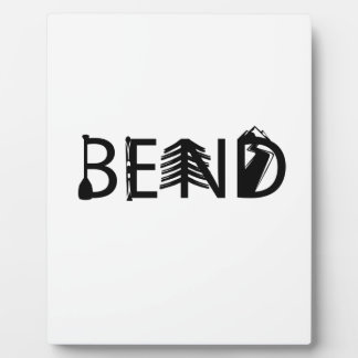 Bend Oregon Outdoor Activity Letters Logo Plaque