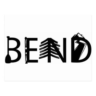 Bend Oregon Outdoor Activity Letters Logo Postcard