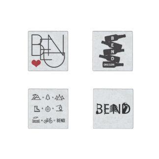 Bend Oregon stone magnets set of 4