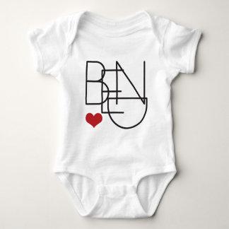 Bend Oregon Word Heart Logo Baby Bodysuit