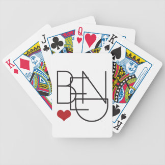 Bend Oregon Word Heart Logo Bicycle Playing Cards