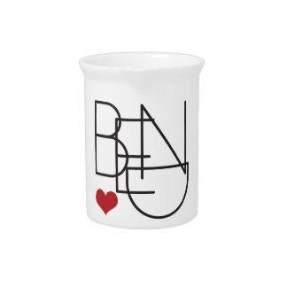 Bend Oregon Word Heart Logo Pitcher