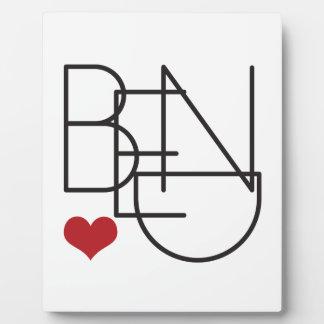 Bend Oregon Word Heart Logo Plaque