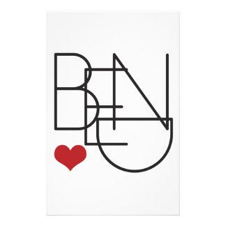 Bend Oregon Word Heart Logo Stationery