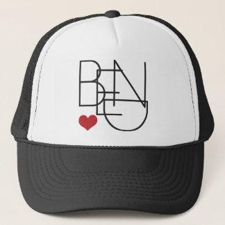 Bend Oregon Word Heart Logo Trucker Hat