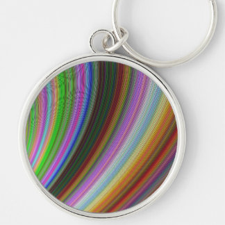 Bend Silver-Colored Round Key Ring