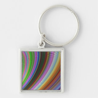 Bend Silver-Colored Square Key Ring