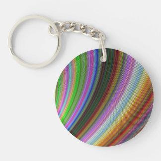 Bend Single-Sided Round Acrylic Key Ring