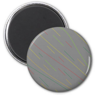 Bends Gray 6 Cm Round Magnet
