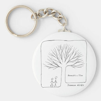 Beneath a Tree Cover Basic Round Button Key Ring