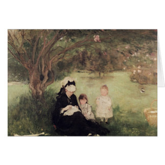 Beneath the Lilac at Maurecourt, 1874 Card