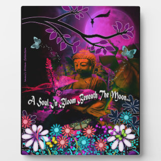 Beneath The Moon Buddha Picture Plaque