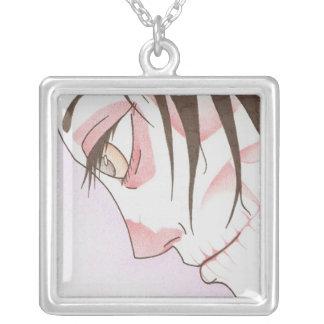 beneath the paint square pendant necklace