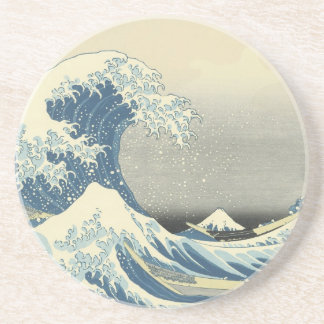 Beneath the Wave off Kamagawa Drink Coasters