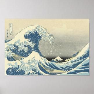 Beneath the Wave off Kamagawa Poster
