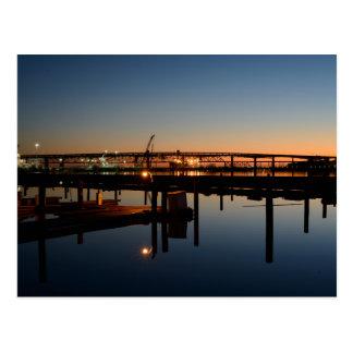 Benecia Bridge and Martinez Marina at Sunrise Postcard