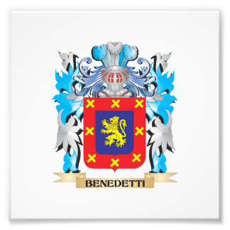 Benedetti Coat of Arms Photo Print